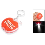 Apple Shaped Keyring With Led Light