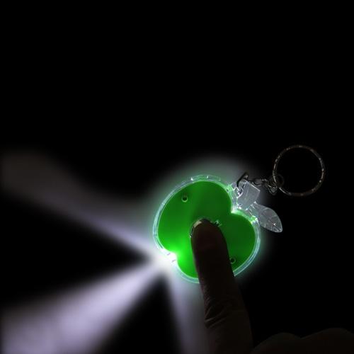 Apple Shaped Keyring With Led Light