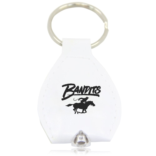 PU Leather Keychain With LED Light