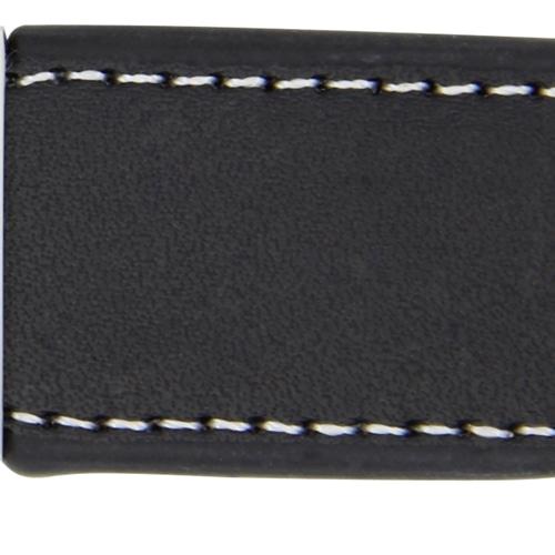 Leather Stitch Look Keychain