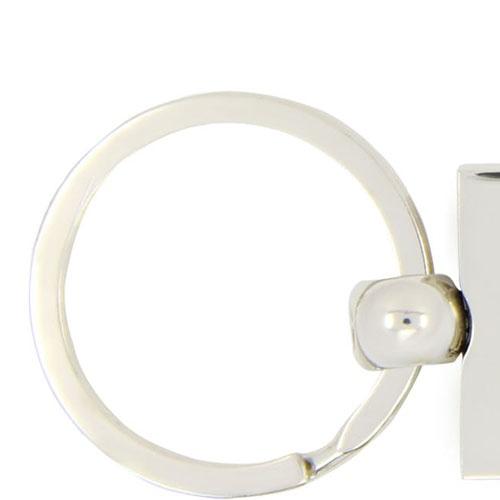 DMC Leather Keychain