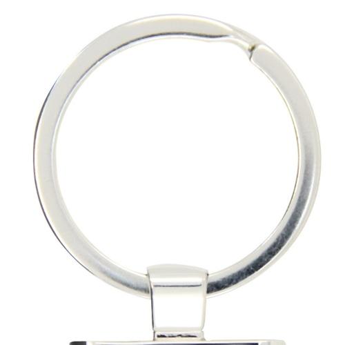 Rectangular Metal Chrome Keychain Image 5
