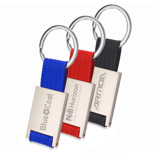 Trendy Metal Polyester Keychain