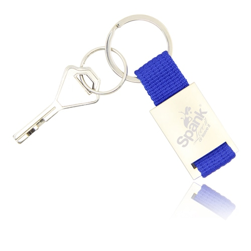 Trendy Metal Polyester Keychain Image 1