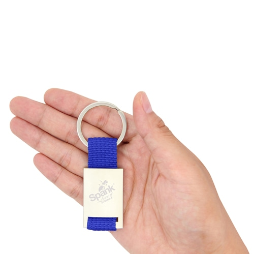 Trendy Metal Polyester Keychain Image 3