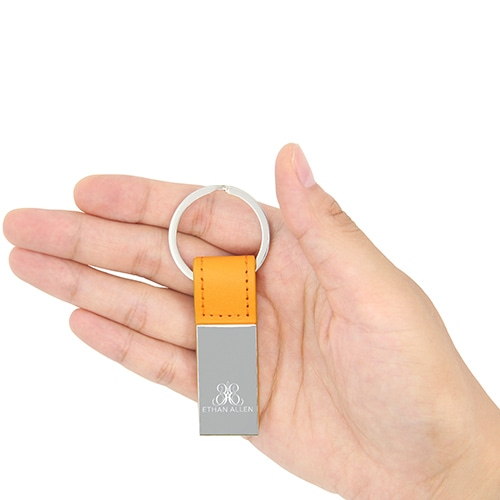 Leather Accent Executive Keychain