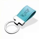 Leather Strap Metal Keychain