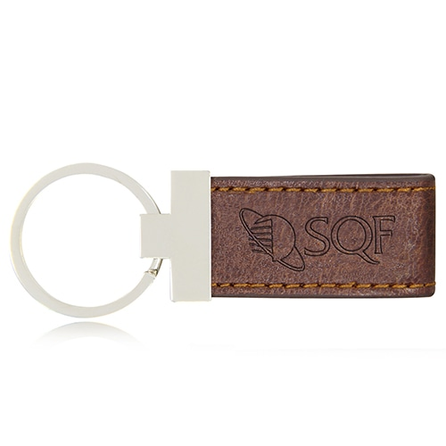 Leather Strap Metal Keychain