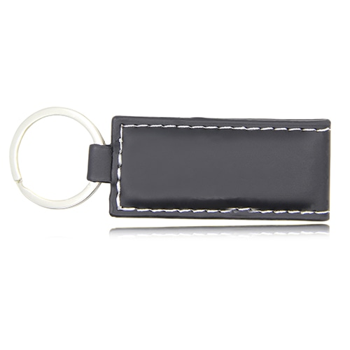 Strap Button Leather Keychain