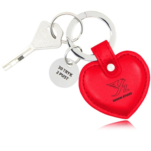 Heart Shaped Leather Key Fob