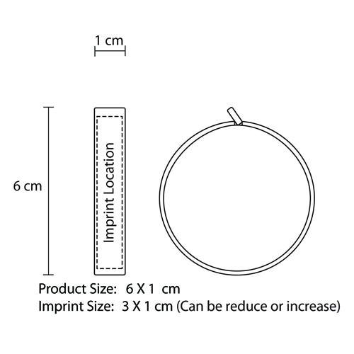 Round Leather Measuring Tape Imprint Image
