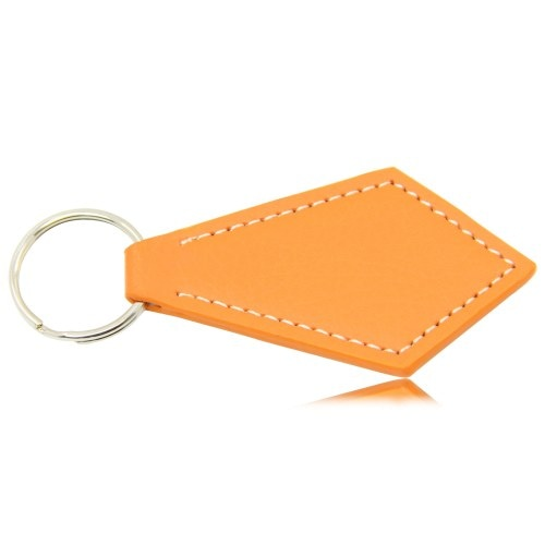 Tie Shaped Leather Keychain