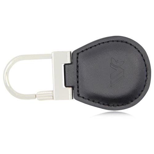 Lock Leather Keychain