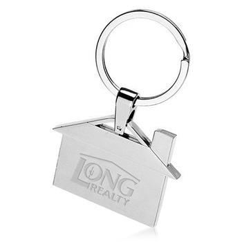 House Shape Metal Key Ring