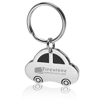 Car Shaped Metal Keychain