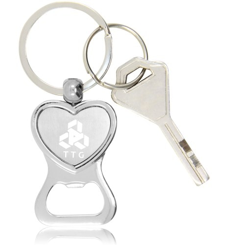 Heart Shaped Bottle Opener Keychain