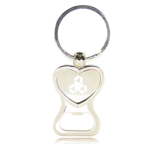 Heart Shaped Bottle Opener Keychain Image 2