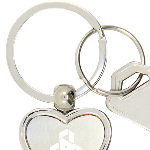 Heart Shaped Bottle Opener Keychain Image 5