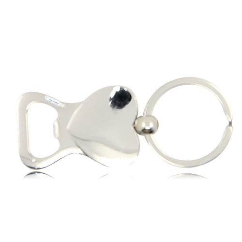 Heart Shaped Bottle Opener Keychain Image 7
