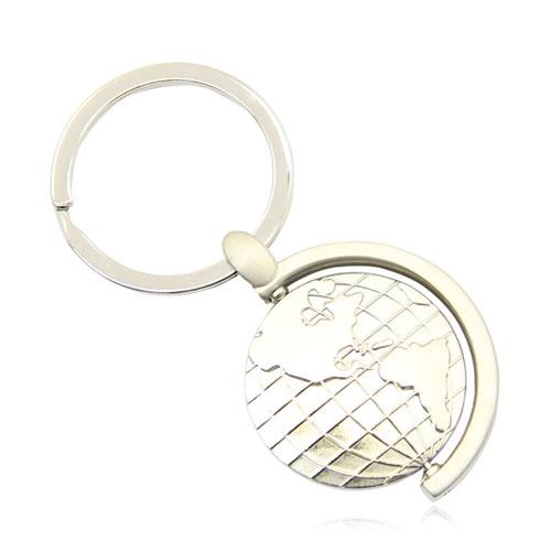 Spinning Rotating Globe Keychain Image 7