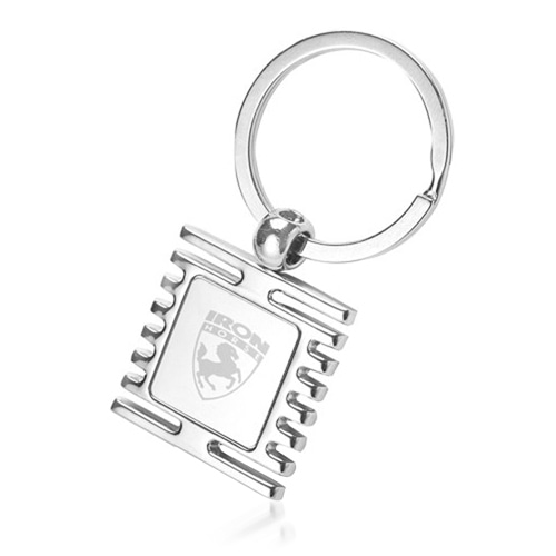 Square Window Shape Metal Keychain