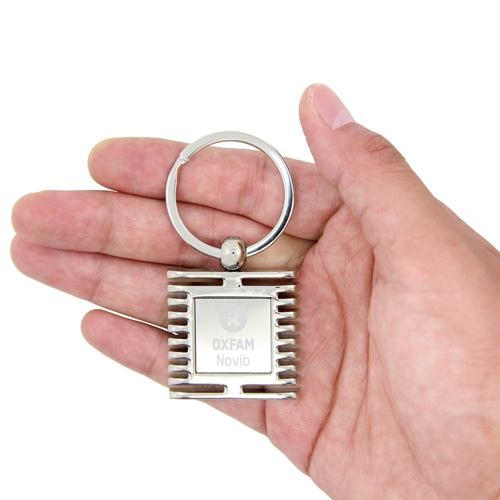 Square Window Shape Metal Keychain Image 3