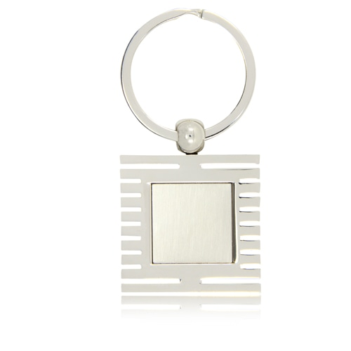 Square Window Shape Metal Keychain Image 4