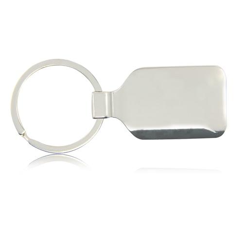 Square Zinc Alloy Keychain