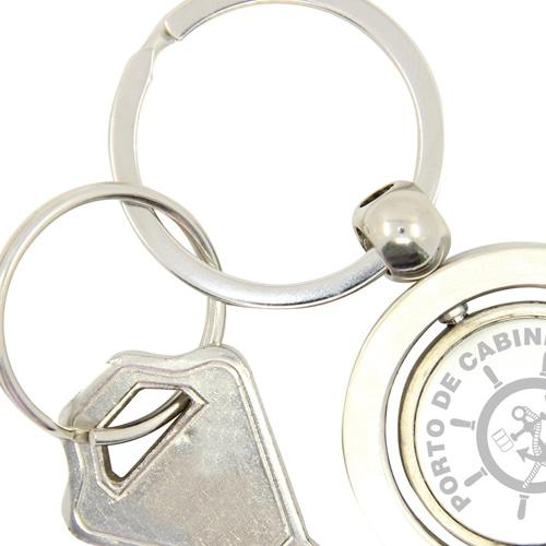 Round Shape Spinning Metal Keychain Image 3