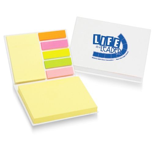 Hardcover Notepad With Flags Memo Pad