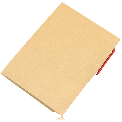 Eco Kraft Cover Notepad With Pen Image 1