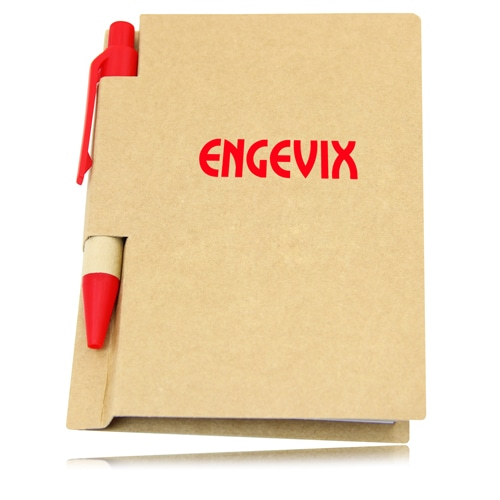 Eco Kraft Cover Notepad With Pen Image 4
