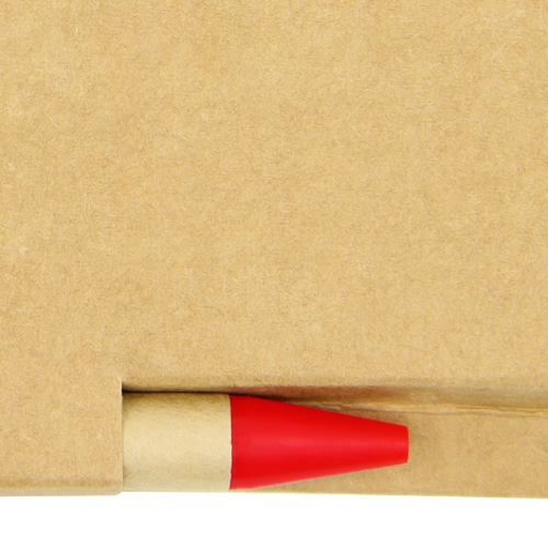Eco Kraft Cover Notepad With Pen Image 5