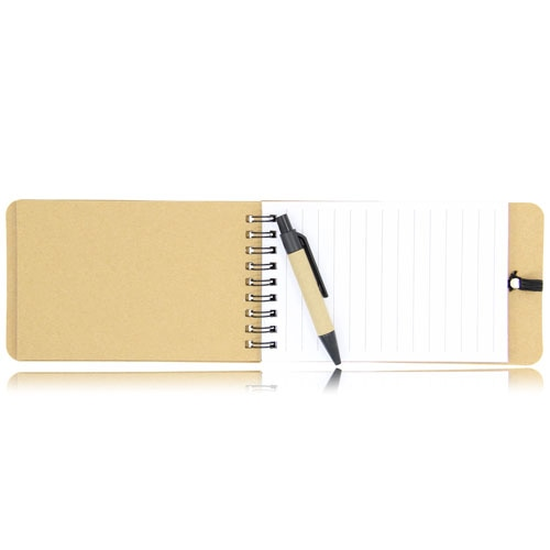 Eco-Friendly Spiral Memo Pad with Pen Image 13