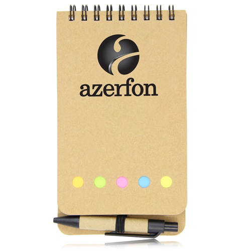 Eco-Friendly Spiral Memo Pad with Pen