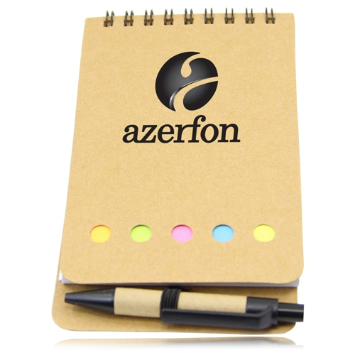 Eco-Friendly Spiral Memo Pad with Pen Image 2