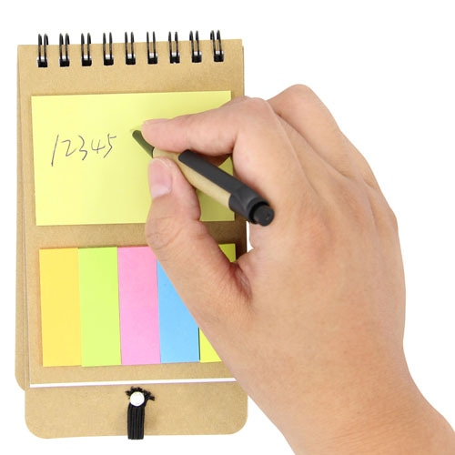 Eco-Friendly Spiral Memo Pad with Pen Image 3