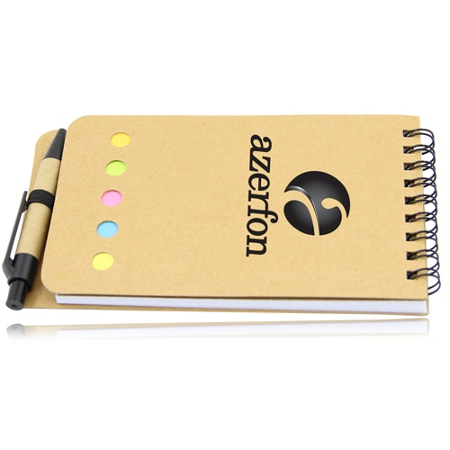 Eco-Friendly Spiral Memo Pad with Pen Image 5