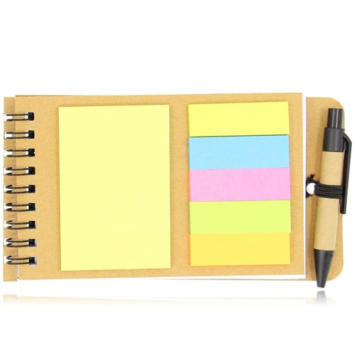 Eco-Friendly Spiral Memo Pad with Pen Image 7