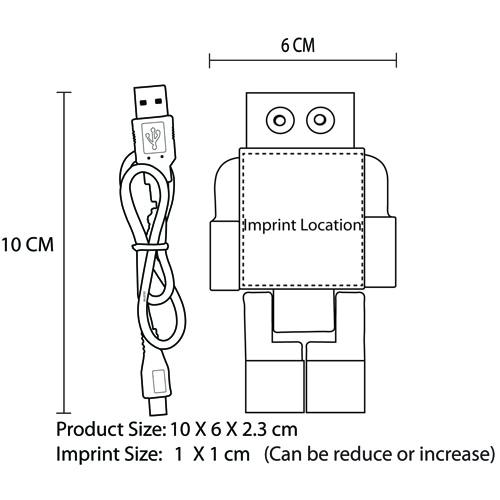 Robot Four USB Port Hub