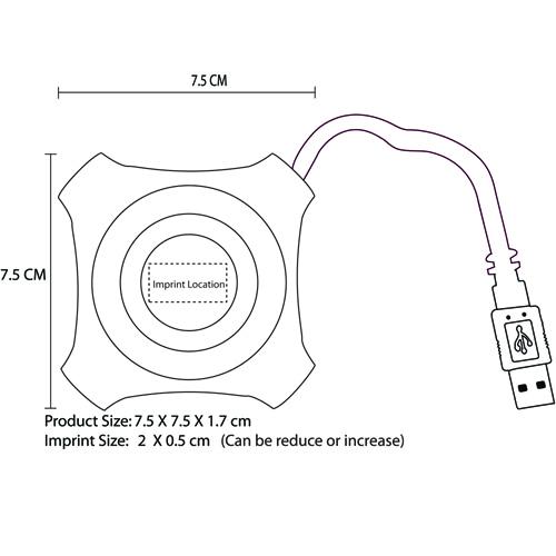 Translucent 4 PortsUSB Hub