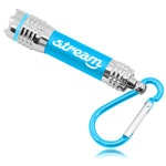 Aluminum Carabiner Flashlight Keychain