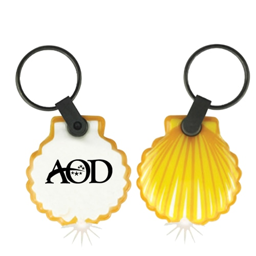 Customize Shape PVC Flashlight Keychain Image 10
