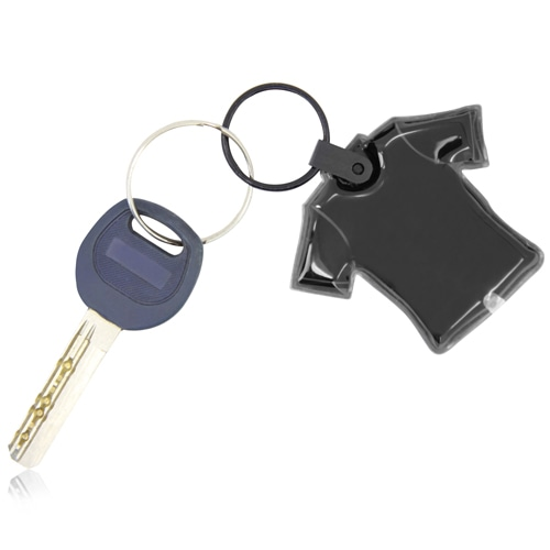 Customize Shape PVC Flashlight Keychain Image 2