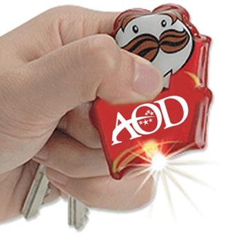 Customize Shape PVC Flashlight Keychain