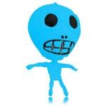 Skeleton Shaped Smash Water Ball