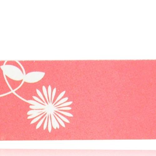 Flower Design Long Emery Board