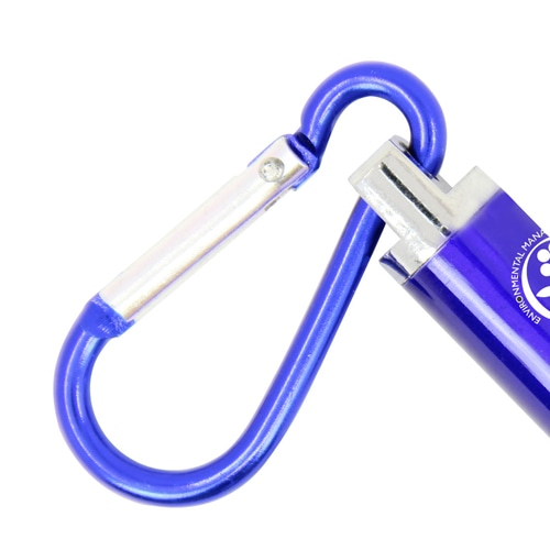 Carabiner Flashlight With Laser Pointer