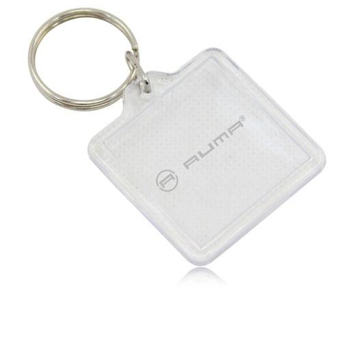 Square Clear Plastic Acrylic Key Tag