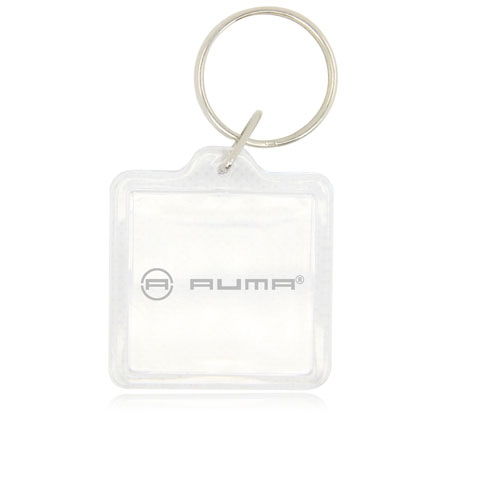 Square Clear Plastic Acrylic Key Tag